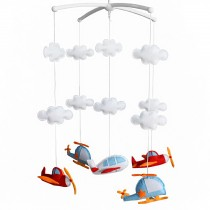Lovely Aircraft Rotating Musical Mobile Baby Bed Hanging Bell