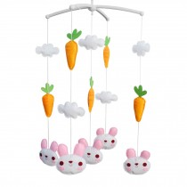 Crib Rotate Bed Bell with Music [Rabbit and Carrot] Baby Musical Mobile