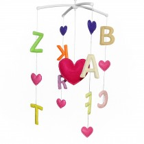 Rotate Bed Bell for Baby Musical Crib Mobile [Multicolor English Alphabet]