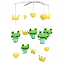 Rotate Bed Bell for Baby [Frog and Crown] Musical Crib Mobile