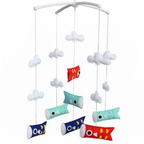 Newborn Baby Musical Toys Crib Dreams Mobile [Japanese Carp Flag]