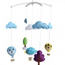 [Hot-air Balloon] Unisex Baby Crib Stroller Car Seat Rotatable Mobile