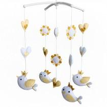 Kids' Crib Toy Unisex Baby Crib Rotatable Musical Mobile [Flying Birds]