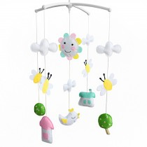 Baby Crib Rotatable Musical Mobile [Natural Scenery] Rotatable Bed Bell