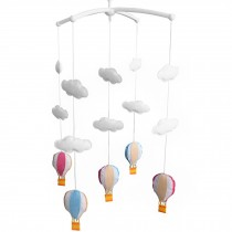 Hot-air Balloon Design Baby Crib Rotatable Bed Bell, Colorful Mobile