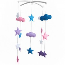 Baby Crib Rotatable Bed Bell [Cloud and Stars] Colorful Baby Toys