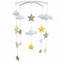 [Shiny Star] Baby Crib Rotatable Bed Bell Colorful Baby Toys