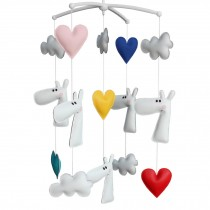 Creative Crib Rotatable Musical Mobile Handmade PU Leather Toys