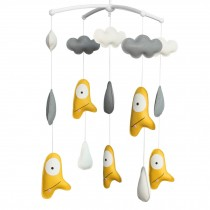 Crib Rotatable Musical Mobile Handmade Hanging PU Leather Toys