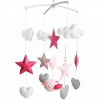 Beautiful Nursery Rotatable Musical Mobile Handmade Hanging Toys