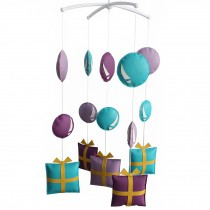 Pretty Nursery Rotatable Musical Mobile [Purple Tones] Handmade Hanging Toys