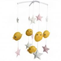 Creative Nursery Rotatable Musical Mobile Handmade Toys [Happy Birds]