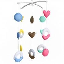 [Sweet Dream] Baby Crib Toy Newborn Baby Crib Rotatable Plush Mobile