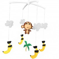 Tropical Scenery Baby Crib Rotatable Plush Musical Mobile Baby Crib Toy