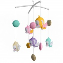 Exquisite Musical Baby Mobile for Crib, Colorful Hanging Monkey Toys