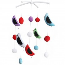 Musical Baby Crib Mobile for Unisex Baby, Colorful Bird Toys