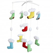 Cute Decoration for Crib, Baby's Plush Toys, Rotatable Musical Mobile