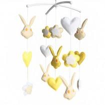 Cute Crib Toys, Crib Stroller Mobile [Rabbit] Baby Bedding Musical Mobile