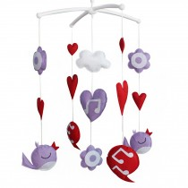Cute Handmade Hanging Toys [Singing] Baby Musical Crib Mobile
