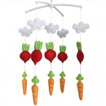 [Radish & Carrot] Unisex Baby Bedding Crib Musical Mobile