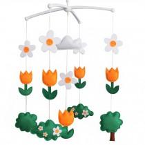 Creative Baby Gift [Blooming Tulips] Handmade Unisex Baby Crib Mobile
