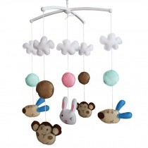 Handmade Animal Series Toys for Baby, Musical Baby Crib Mobile