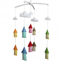 [Farmhouse] Colorful Hanging Toys for Baby, Musical Crib Mobile