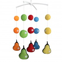 Pretty Gift, [Pear] Musical Mobile for Crib, Baby Room Decoration