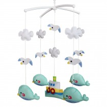 Musical Mobile for Crib [Whale and Seagull] Baby Room Decoration