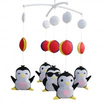 Cute Gift, Infants' Musical Mobile, Creative Toys [Penguin] Rotatable Mobile
