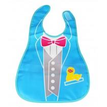 Baby Bibs Waterproof Food Catcher Deep Pocket Soft Adjustable Neckban Bow