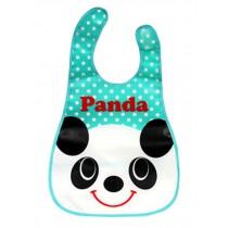 Baby Bibs Cartoon Waterproof  Soft Adjustable Neckban Blue Panda Easy Use