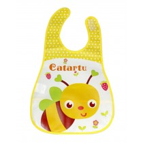 Baby Bibs Cartoon Waterproof  Soft Adjustable Neckban Cute Bee Easy Use