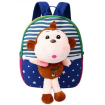 Cute Childrens Backpack For School Toddle Backpack Baby Bag, Blue Monkey