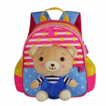 Cute Animals Shape Childrens Backpack For School Hiking Camping Bear Pink