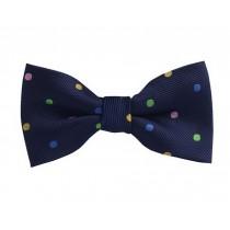 Fashion Designed Adjustable Neck Bowtie Boys Bow Tie [Multicolor Spots]