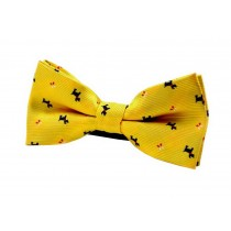 Fashion Designed Adjustable Neck Bowtie Boys Bow Tie [Yellow]