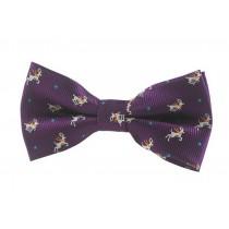 Fashion Designed Adjustable Neck Bowtie Boys Bow Tie [Purple]