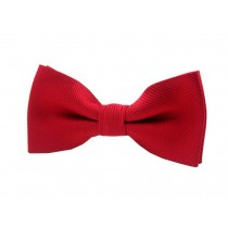Fashion Designed Adjustable Neck Bowtie Boys Bow Tie [Pure Red]