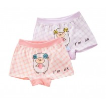 Little Girls Comfortable Panties 2PCS Soft Cotton Underwears