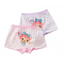 2PCS, Girls Comfortable Panties Kids Fashion Underwear[Bow and Girl]