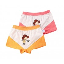 [Happy Day] Soft Cotton Panties Little Girls Comfortable Underwears, 2PCS