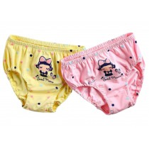 [Sweet Time] Girls Soft Cotton Panties Comfortable Underwear, 2PCS