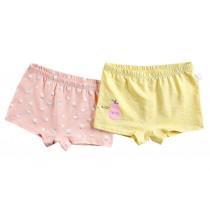 [Pear] Soft Cotton Panties Comfortable Underwears, Set of 2