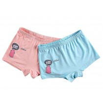 Girls Soft Cotton Briefs Comfortable Ruffled Panties, 2 PCS