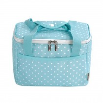 Newly-made Bag Lunch Tote Bag Fashion Simple Insulated Bento Bag Wave Dot