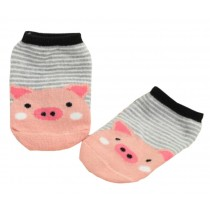 2 Pairs [Pig Pink] Toddler Socks Cotton Socks for Baby Child Kid, 2-4 Years