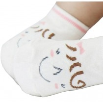 2 Pairs [Smile] Toddler Socks Cotton Socks for Baby Child Kid, 2-4 Years