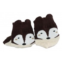 2 Pairs [Fox] Infant Toddler Socks Cotton Socks for Baby Child Kid 0-2 Years