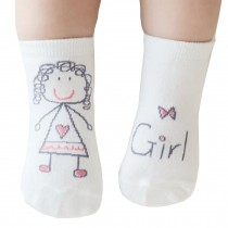 2 Pairs [Girl] Infant Toddler Socks Cotton Socks for Baby Child Kid, 0-2 Years